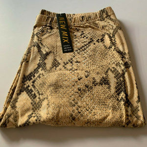 New Mix Womens Buttery Snakeskin Leggings Size 1X